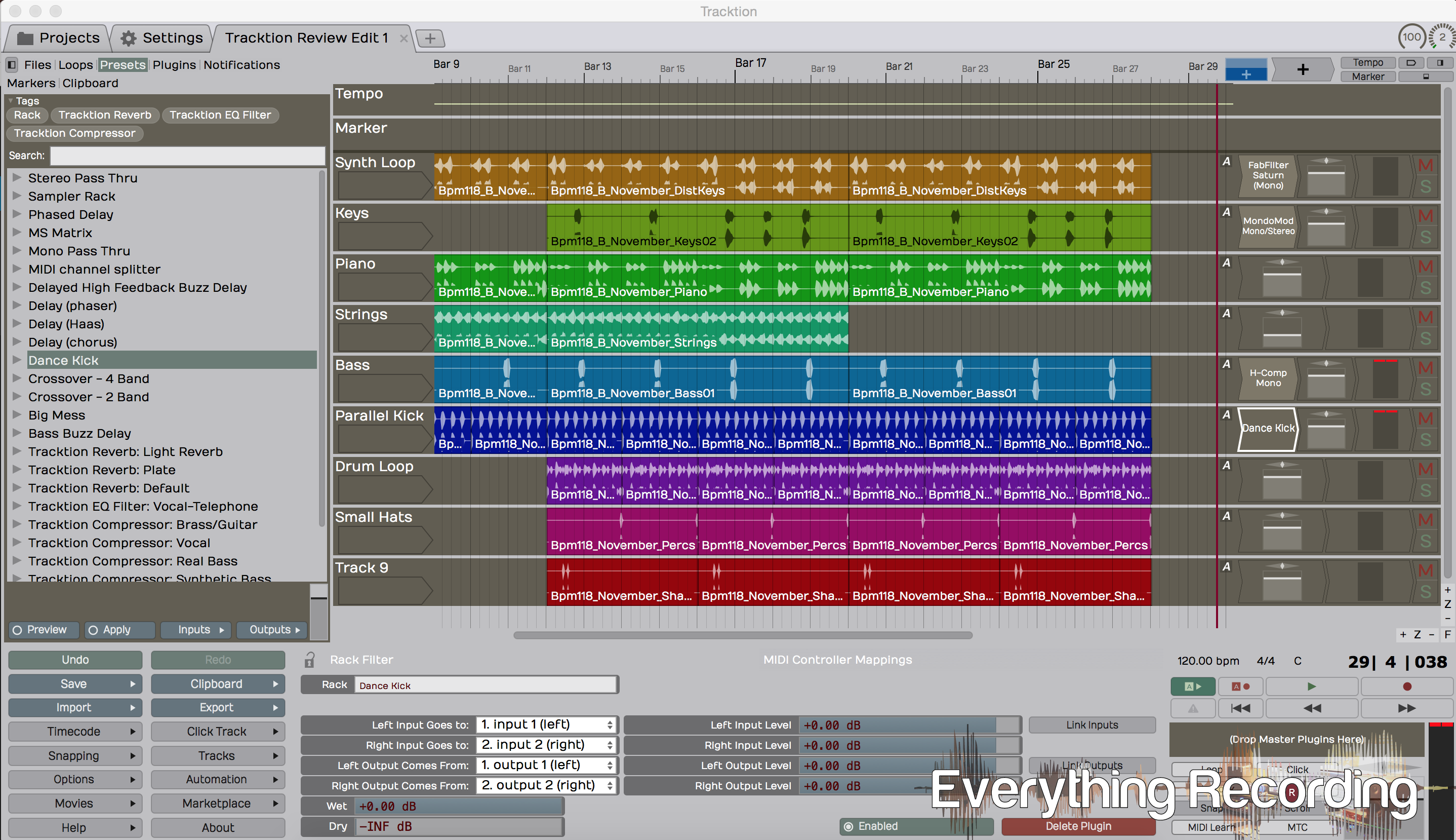 Review: Tracktion 5 - Everything Recording
