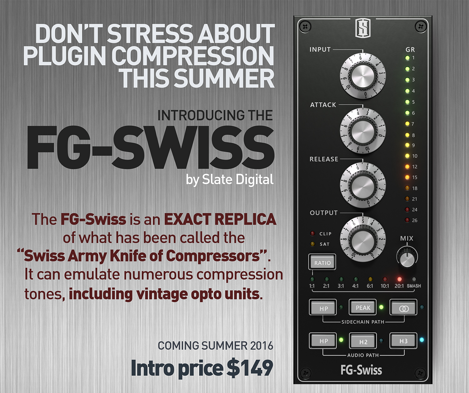 Slate Digital FG- Swiss Compressor - Everything Recording