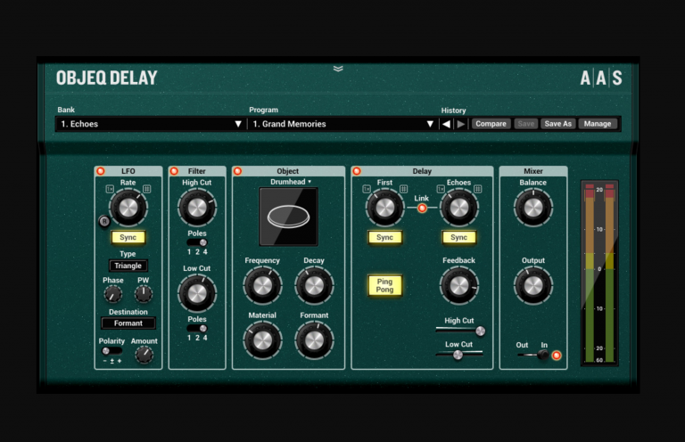 Applied Acoustics Systems Releases Objeq Delay