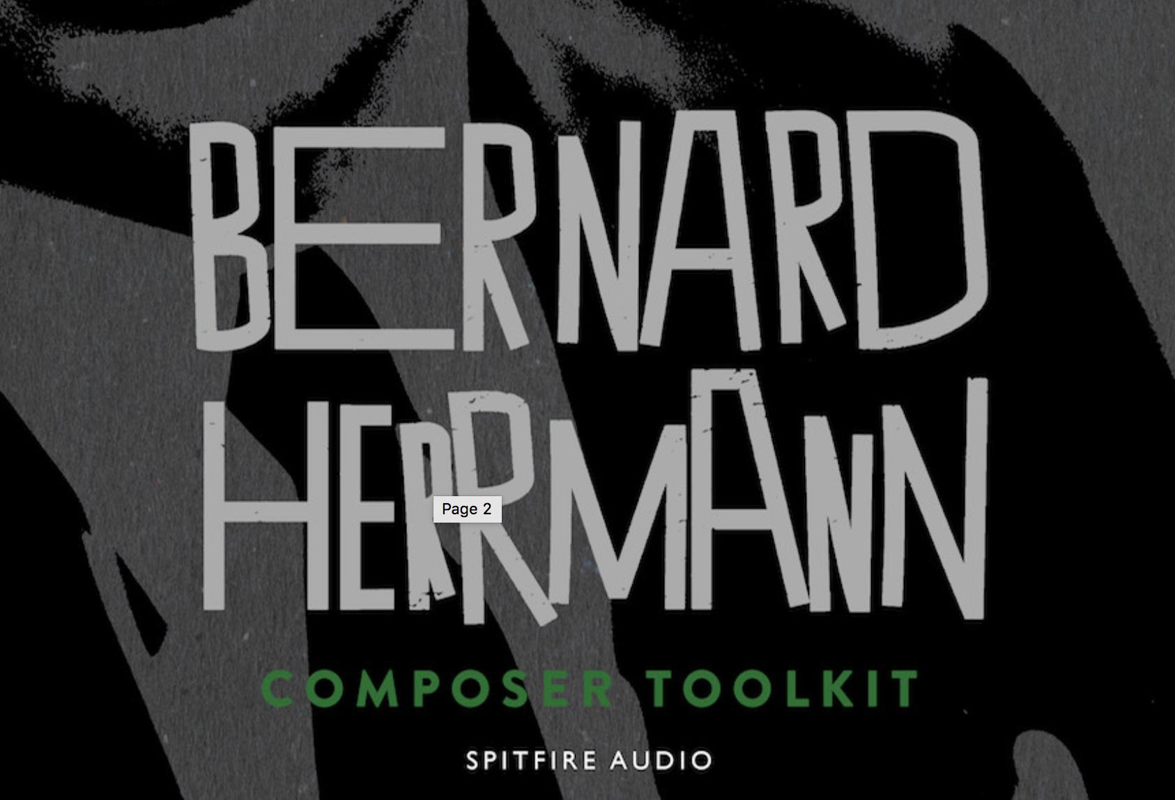 Spitfire Bernard Herrmann Composer Toolkit - Everything