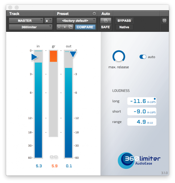 Audioease 360 Limiter